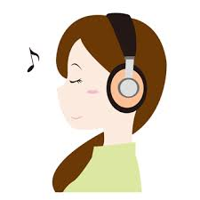 音楽療法癒しのピアノBGM音楽を聴く女性